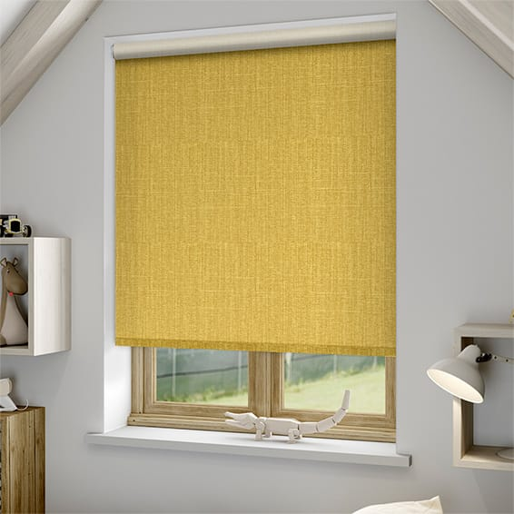 yellow blind curtain