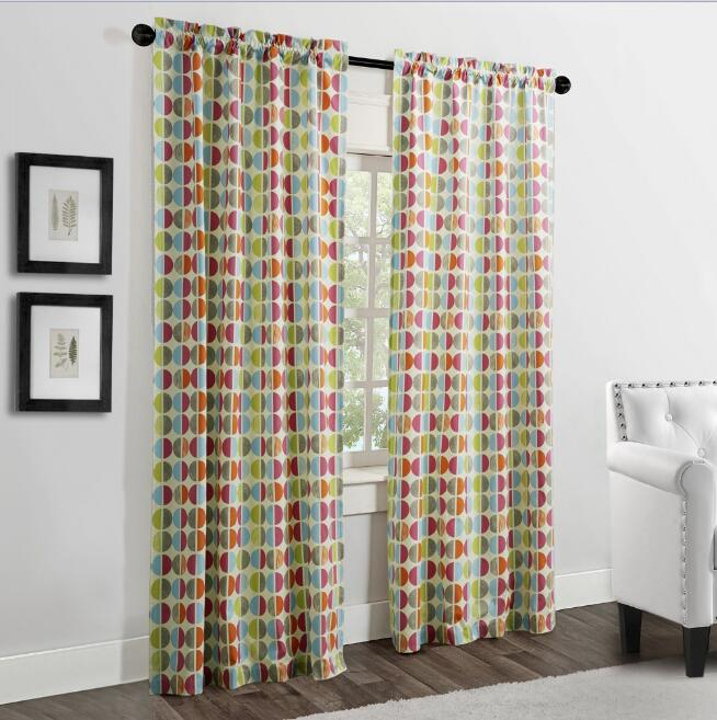 multi colored curtain