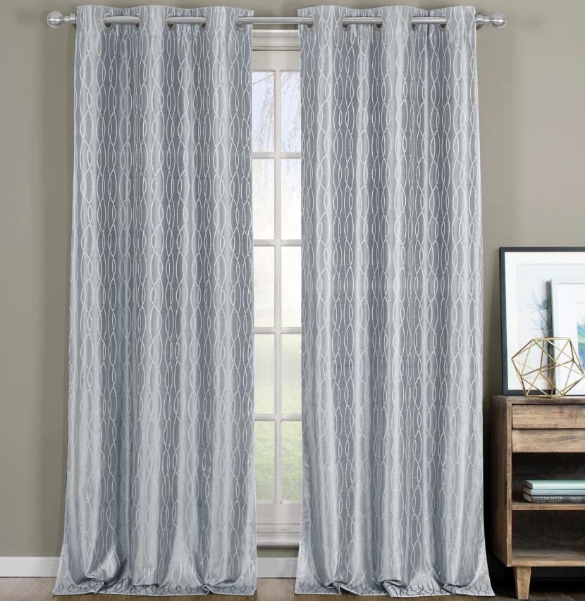 silver blackout curtains