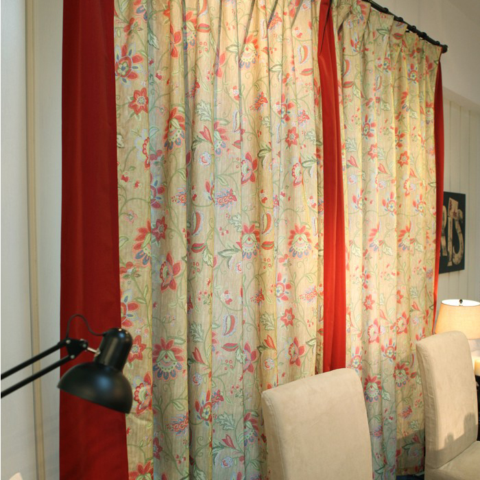 2013 Country New Floral Printed Colorful Curtains of Cotton