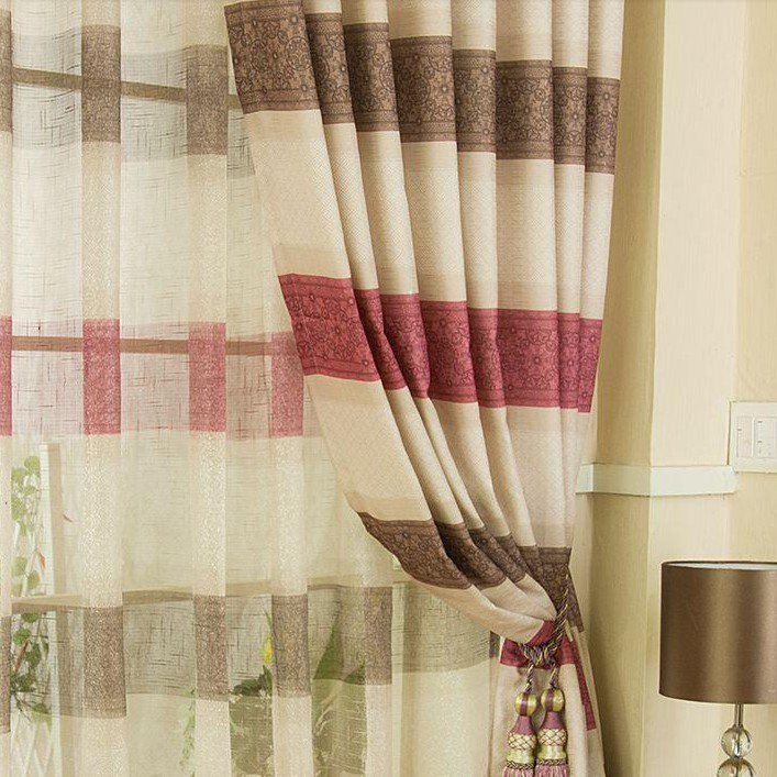 Awesome ... Charming Plaid And Striped Multi Color Curtains Of Linen ...