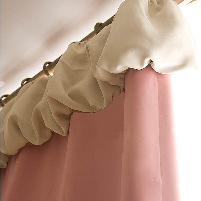 Nice Pink Blackout Lined Poly and Cotton Solid Curtains