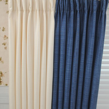 Blue and Ivory Curtains of Linen and Cotton for Country Style ...