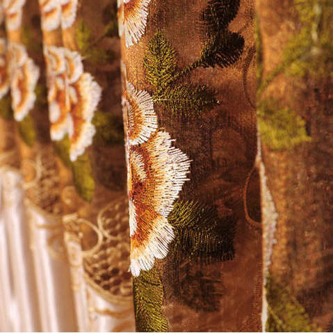 Fabulous Silk Lace Curtains with Embroidery