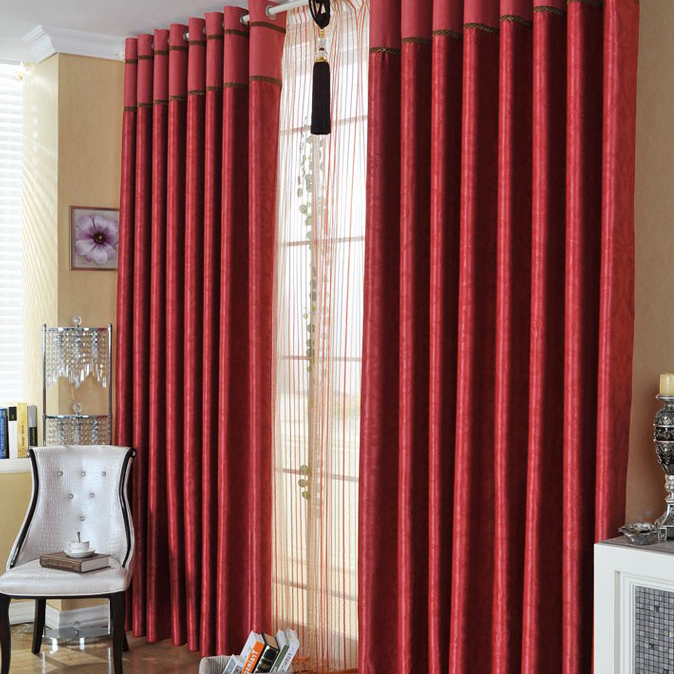 Captivating ... Festival Bedroom Or Living Room Curtains In Red With Polyester ...