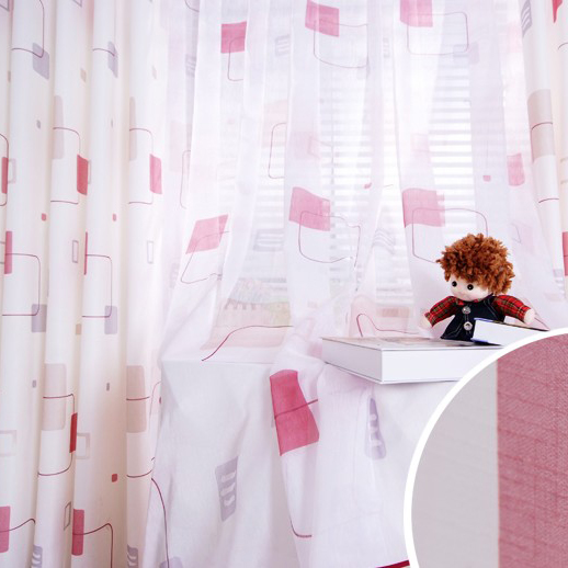Big Discount Geometrical and Lineated Poly and Cotton Curtains