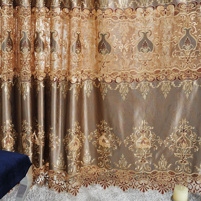 ... European Style Blackout Blending Materials Curtains with Embroidery ...