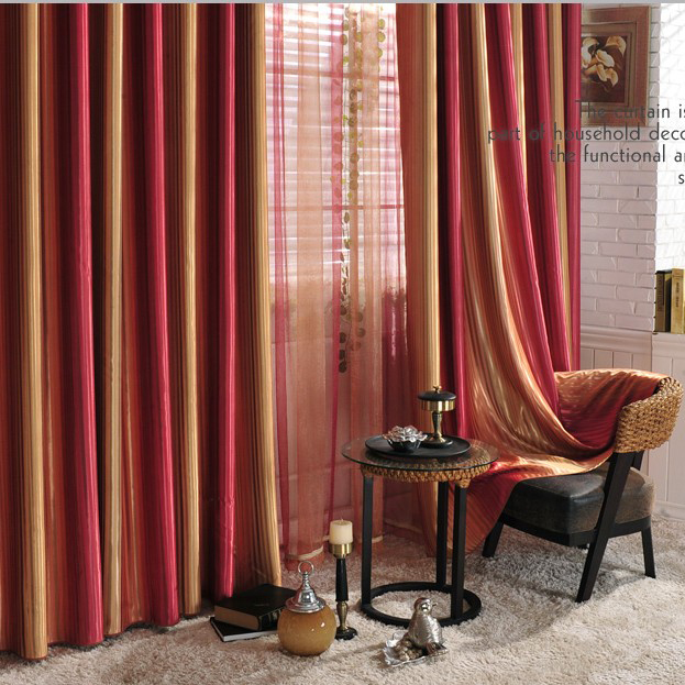 Hot Selling Multi-color Curtains with Stripes for Blackout