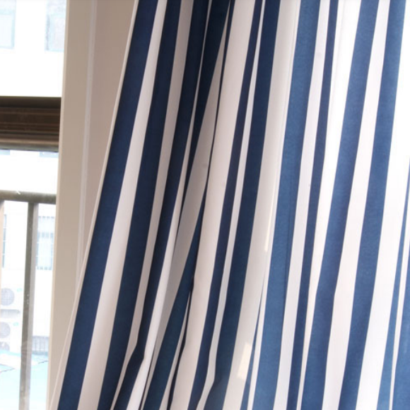 Blue And White Striped Curtains Quotes