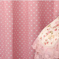 Girls Favorite Floral Lace Poly and Cotton Curtains with Polka Dots