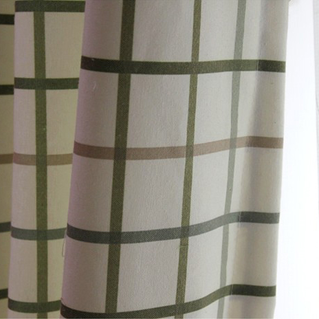 Country Green Plaid and Check Bow Tie Bedroom Curtains for Girls ...