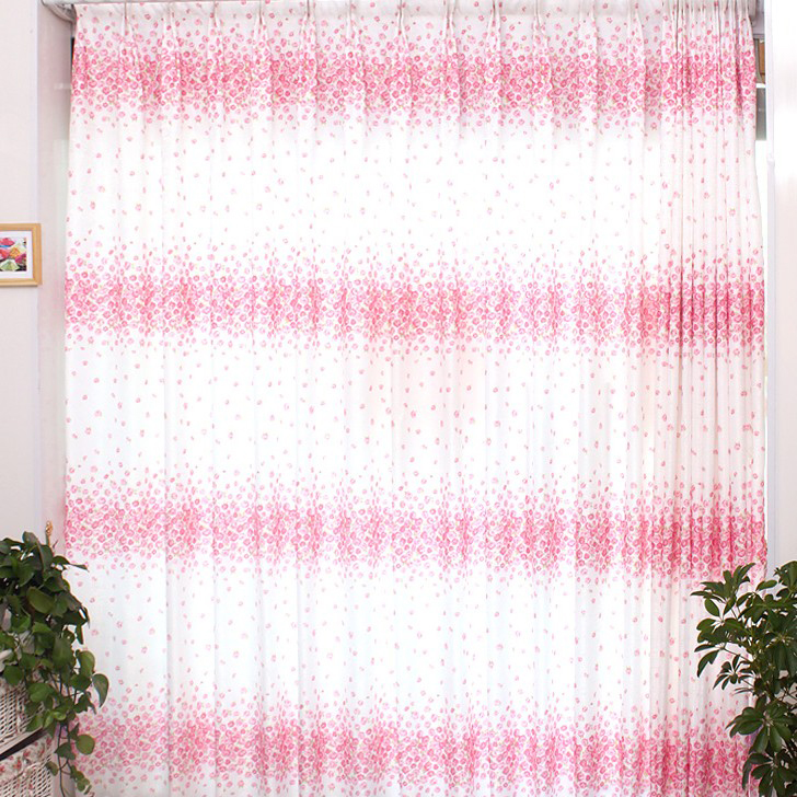 ... Sweet Pink And White Floral Printing Curtains Of Eco Friendly Style ...