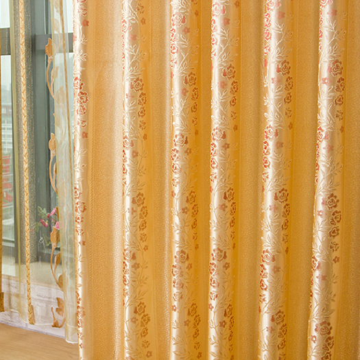 Attractive Pastoral Style Yellow Energy Saving Curtains