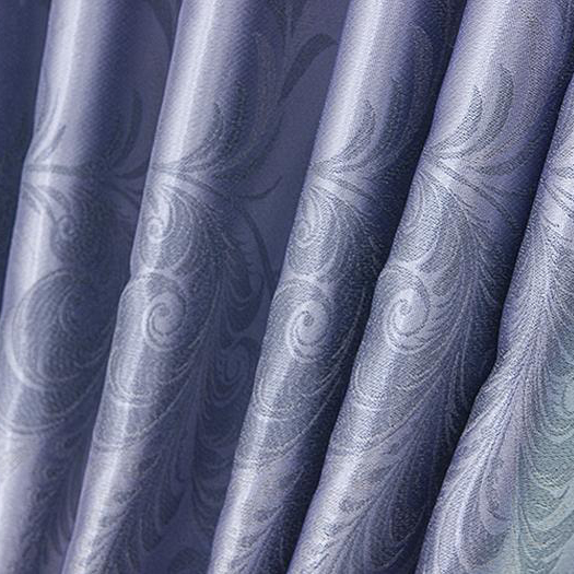 ... Sky Blue Blackout Curtains Of Jacquard Polyester Fabric ...