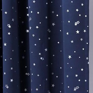 Outer Space stile navy in cotone tende oscuranti con le stelle