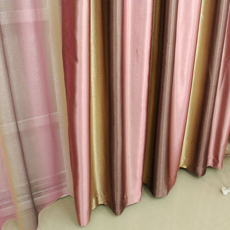 Elegant Double-sided Blackout Print Bedroom Curtains