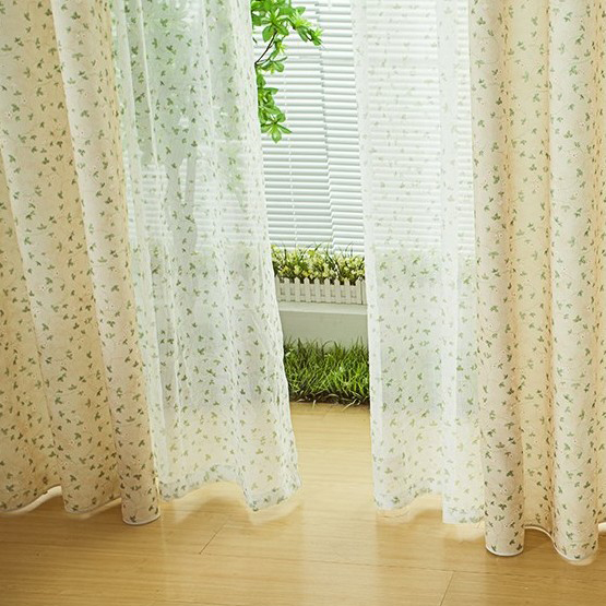 Light Yellow Curtains New arrival light yellow leaf print living room ...