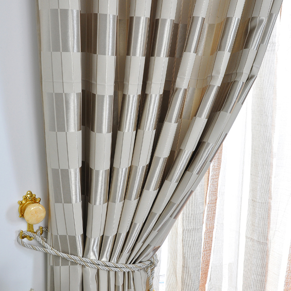 Curtains Ideas blackout panels for curtains : Casual Silver Gingham Totally Blackout Curtains , Buy Silver Print ...
