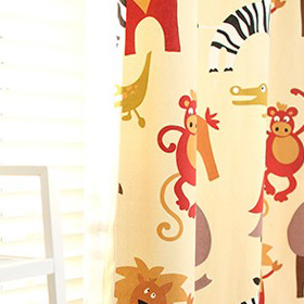 Ikea Cartoon Animal Korean Cotton Canvas Children Room Curtain