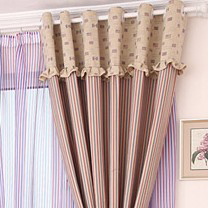 ... American Style Country Geometric Living Room Curtain ...
