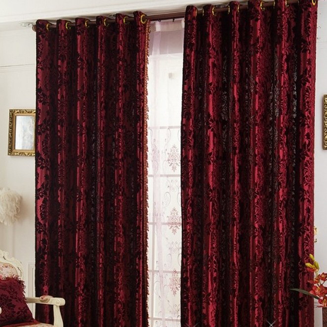 Curtains Ideas burgundy eyelet curtains : High-end Velvet Burgundy Blackout and Thermal Luxury Curtains ...