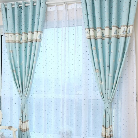 Curtains Ideas curtains for little boy room : Blue Sweet Cotton Energy Saving Curtains for Kids Room , Buy Blue ...