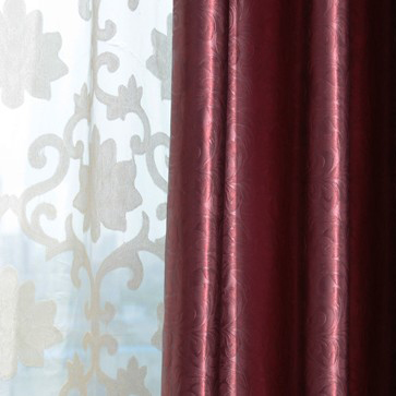High Quality ... 2013 High End Jacquard Burgundy Blackout Curtains For Living Room ...