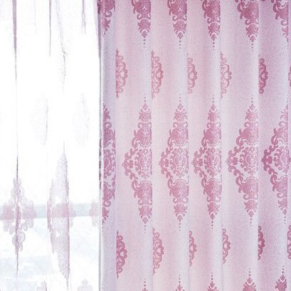 Lovely ... Sweet Nice Pink And White Printed Blackout Curtains For Bedrooms