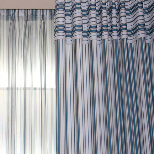 Nautical Striped Beautiful Living Room or Bedroom Curtains , Buy ...