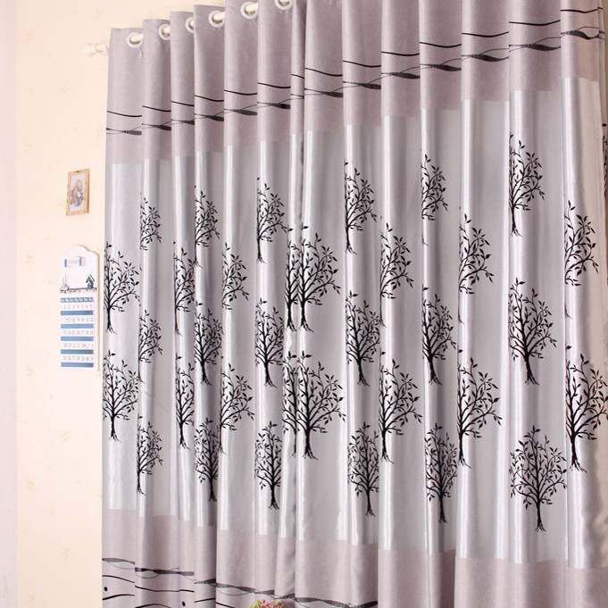 Designed Tree Curtains in Silver