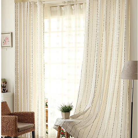 2013 Elegant Printed Polyester White Bedroom Curtains with ...