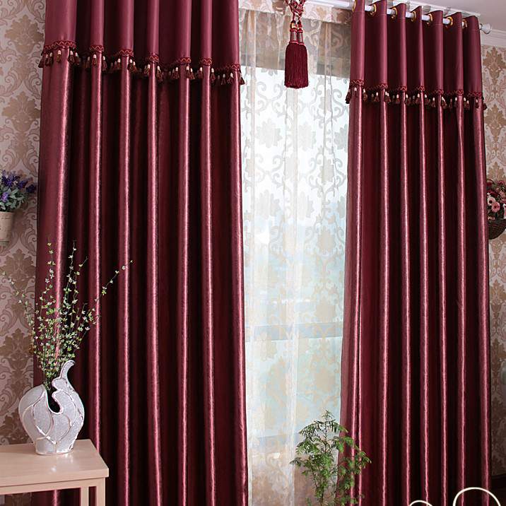 Burgundy Blackout Curtains For Living Room Loading Zoom