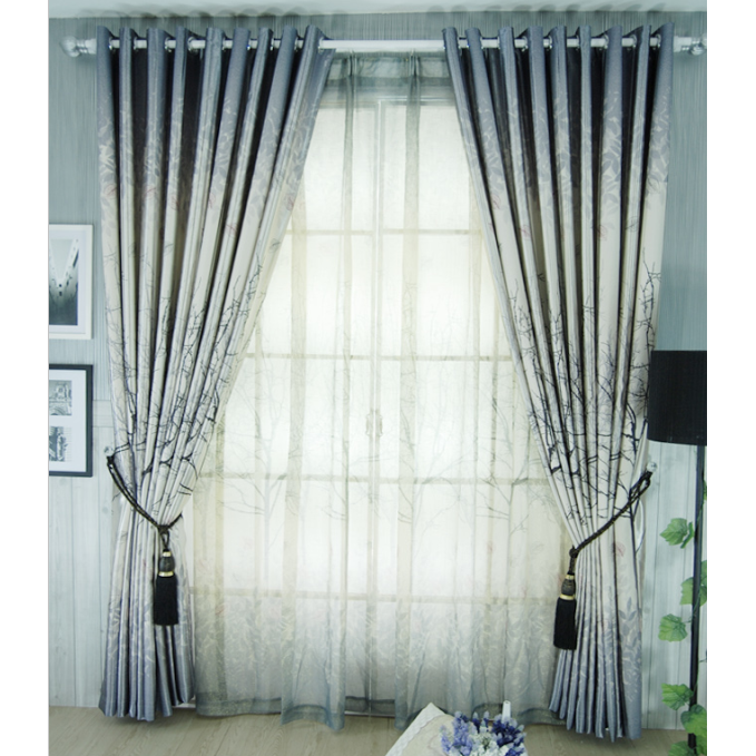 Beautiful Fall Taste Grey Energy Saving Curtains , Buy Curtains ...