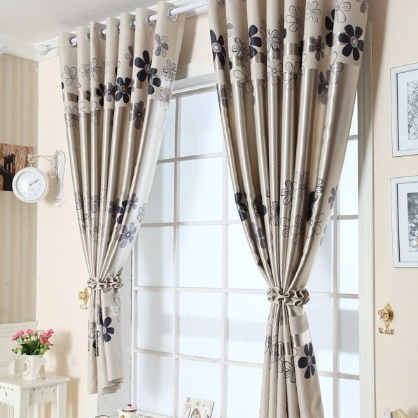 Blackout silk Flowers Children's Room Curtains