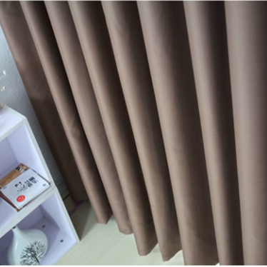 Amazing Simple Good Quality Chocolate Cotton Soundproof Blackout Curtains