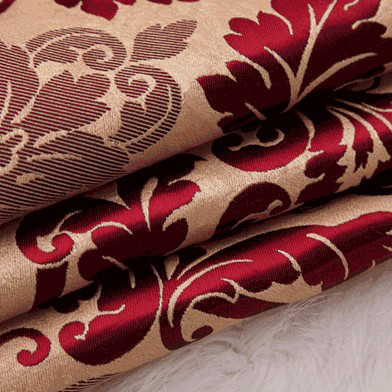 Happy Time Jacquard And Printed Red Living Room Or Bedroom Curtains