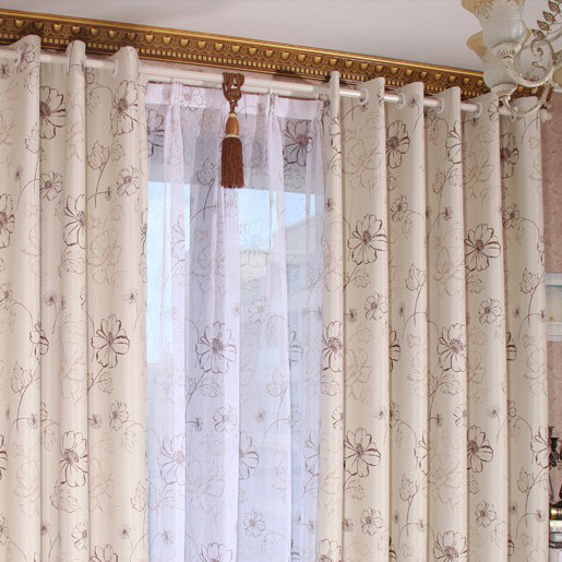 ... Modern Simple Design Blackout Printed Dining Room Curtains ...