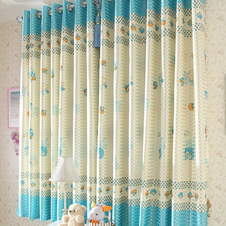 Light Blue And Yellow Curtains Cute blue and yellow curtains of polka ...