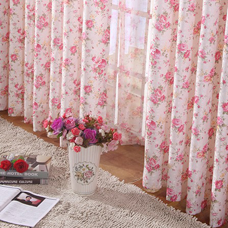 2013 Hot Cheap Country Curtains with Floral Printed in Pink , Buy ...