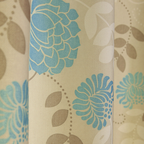 Green Curtains blue and green curtains : Ivory Cotton Blue Flowers Blackout Pastoral Curtains , Buy Ivory ...