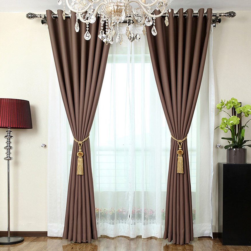 ... Coffee Color Blackout Living Room Chic Style Curtains ... Part 65