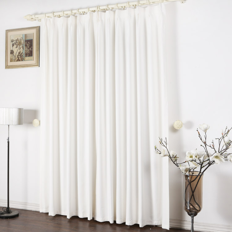Charming ... Pure White Concise Blackout Curtains For Fancy Moment