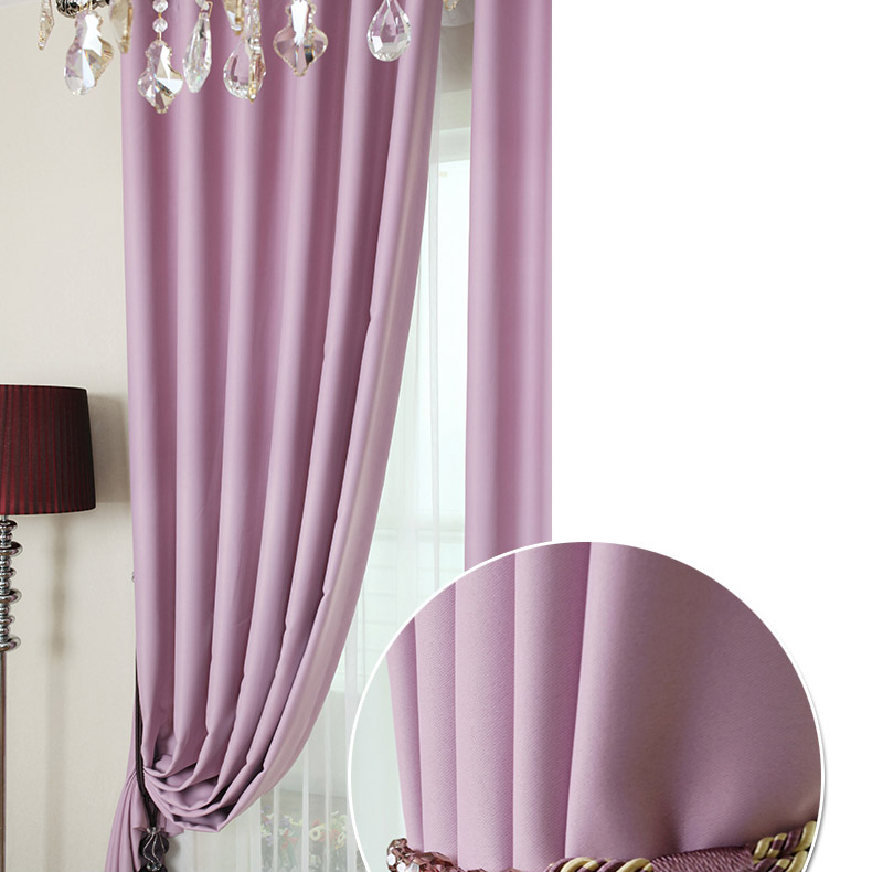Wonderful Custom Blackout Curtains In Violet Color For Girls As Photo