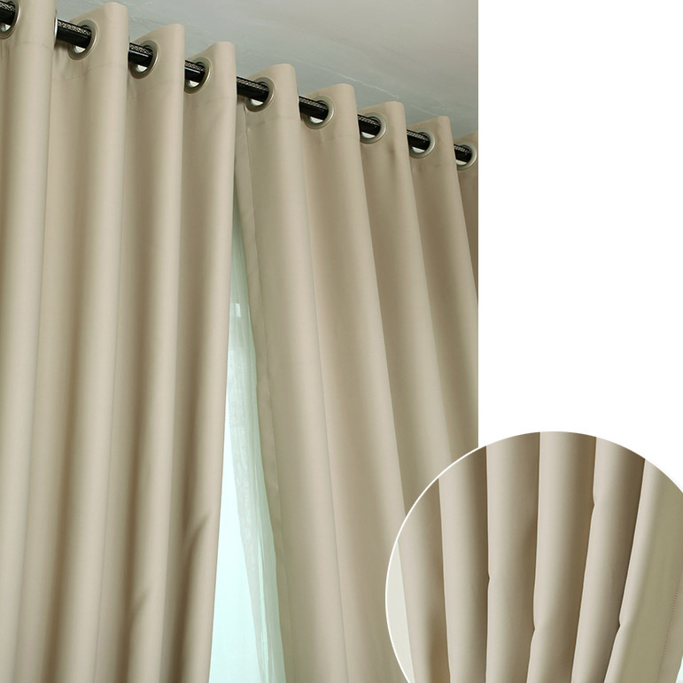 ... Deep Khaki Blackout Curtains Made Of Polyester