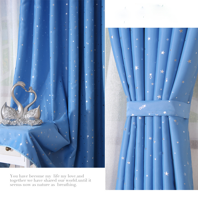 ... Discount Blue Kids Room Blackout Curtains Made Of Poly ...