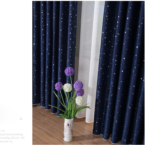 Cheap Childrens Blackout Curtains in Navy Color