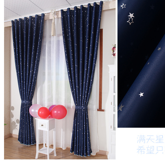 Cheap Childrens Blackout Curtains in Navy Color , Buy Navy Print ...