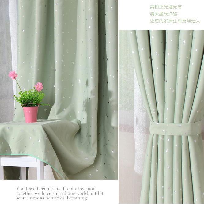 ... Fresh And Unique Light Green Bedroom Or Living Room Blackout Curtains