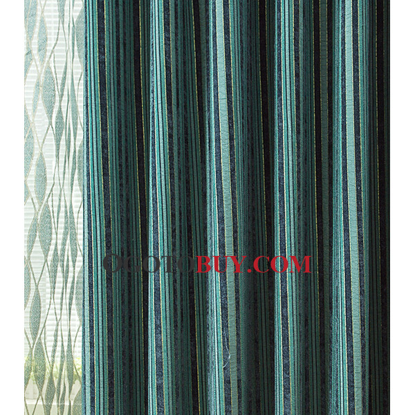 Curtains Ideas curtains for cheap : Dark Teal Striped Beautiful Simple Cheap curtains On Sale, Buy ...