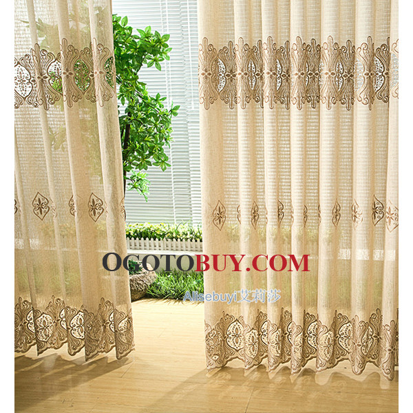 brown luxury privacy patterned discount super long curtains